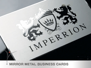 double sided chrome finish metal business cards - Black Metal Business Cards