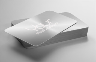 Silver metal business cards yourmetalcards yourmetalcards silver metal business cards reheart Gallery